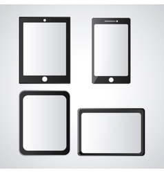 Tablet device technology design vector