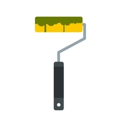 Paint roller icon flat style vector