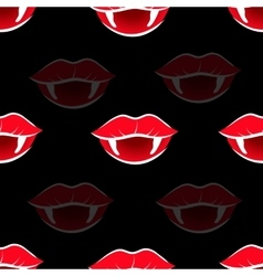 Vampire mouth with red lipstick vector
