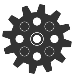 Gearwheel flat icon vector