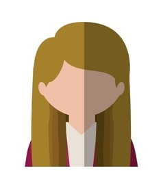 Half body woman blonded in gradient vector