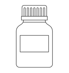 Medicine bottle icon outline style vector