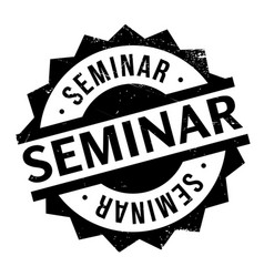 Seminar rubber stamp vector