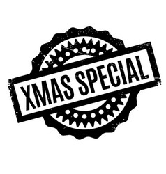 xmas special rubber stamp vector image