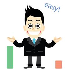 Businessman education textbooks vector