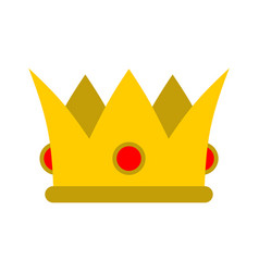 Crown isolated royal hat gold crown with diamonds vector