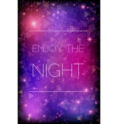 Glittering stars on purple background vector image