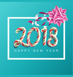 2018 new year poster realistic bow vector image