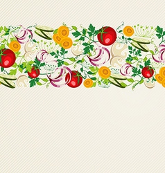 Healthy organic food pattern vector