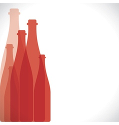 Red bottle background vector