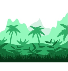 Tropical jungle vector