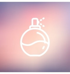 Perfume thin line icon vector