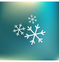 Weather icon snowflake sign vector