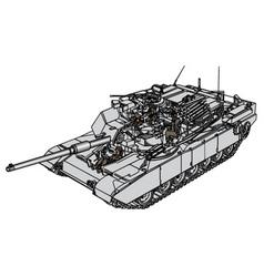 tank abrams m1 vector image