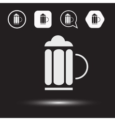 Beer beverage icons Beer logo vector image