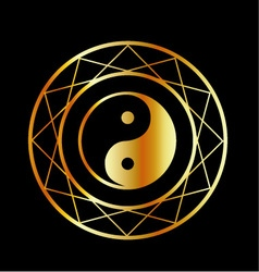 Golden symbol of taoism daoism vector