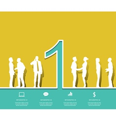 Silhouette people number 1 design vector