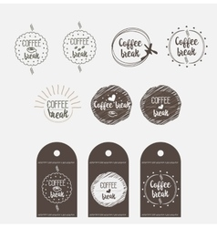 Sticker badge coffee shop vector