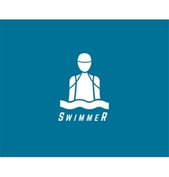 Abstract elements swimmer club or triatlon vector