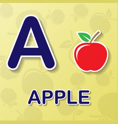 apple alphabet background vector image