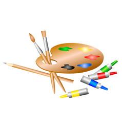 artists palette vector image