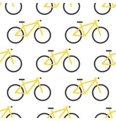 Bicycle pattern flat design vector