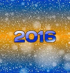 Blue Snow 2016 vector image vector image