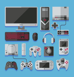 computer digital video online game console game vector image vector image
