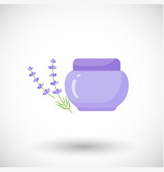 Cosmetics bottle product flat icon vector