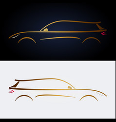 design luxury yellow car for your design vector image vector image