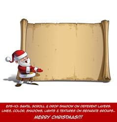 Happy Santa Scroll Presenting vector image vector image