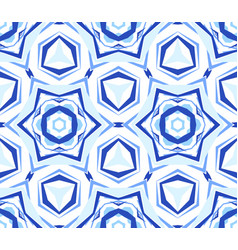 Kaleidoscope white blue star background vector