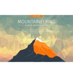 Landscape With Mountain Peak vector image
