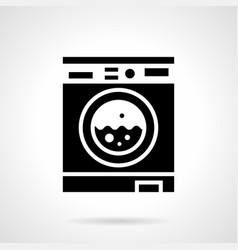laundry room glyph style icon vector image