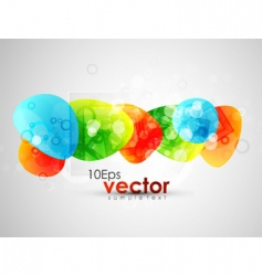modern elements background vector image