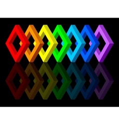 Multicolored shapes vector image vector image