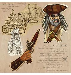 Pirates - naval battles vector