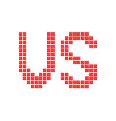 red versus sign in pixel art vector image