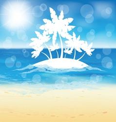 Sand beach and small island vector