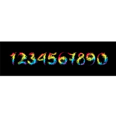 Set multicolored number vector image vector image