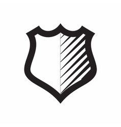 Shield for combat action icon simple style vector