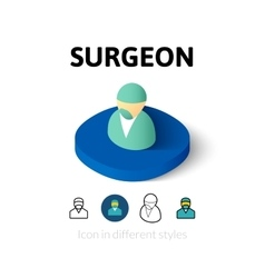 Surgeon icon in different style vector