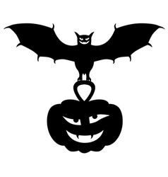 Vampire pumpkin vector