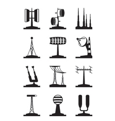 Various antennas and locators vector