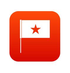 vietnam flag icon digital red vector image