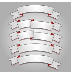 White banners or ribbons set vector image vector image