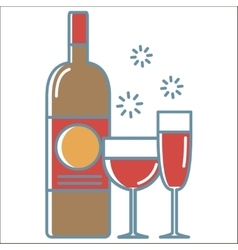 Wine icons collection vector image vector image