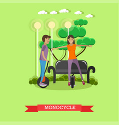 Young couple riding vector