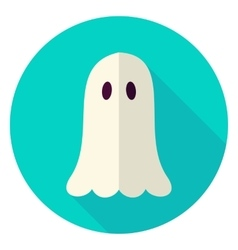 Scary ghost circle icon vector
