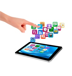 touch tablet user interface vector image